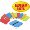 Post-it Haftnotiz Super Sticky Z-Notes 2 x neongrün, 2 x neonorange, 2 x ultrablau, 2 x mohnrot A012686R