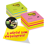 Post-it® Haftnotizwürfel Promotion
